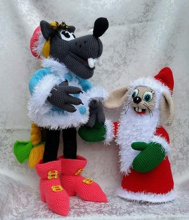 """Интерьерные игрушки """"Ну, погоди! Новый год"""" ручной работы на заказ"""