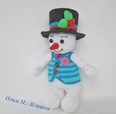 Пара снеговичков ручной работы на заказ