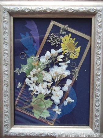 """Картина под стеклом """"Письмо из лета"""" ручной работы на заказ"""