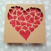 """Открытка для влюбленных """"Сердца сердец"""""""