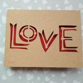"""Открытка для влюбленных """"LOVE"""""""