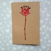 """Открытка для влюбленных """"Беззащитная роза"""""""