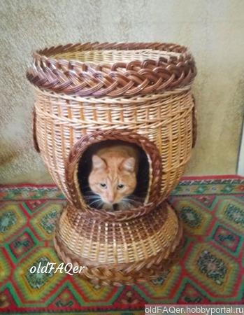 Домик для кошки ручной работы на заказ