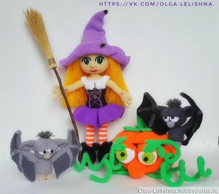 """Интерьерная игрушка """"Ведьмочка Жаклин"""" ручной работы на заказ"""