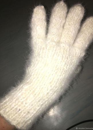 Перчатки вязаные пуховые ручной работы на заказ
