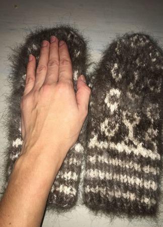 Варежки пуховые ручной работы на заказ