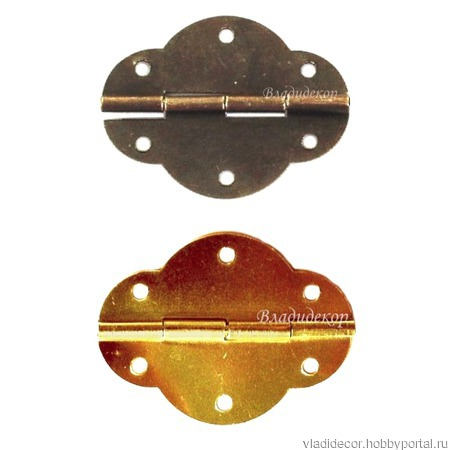 Петли шарнир шкатулок М-217 бронза золото фурнитура ручной работы на заказ