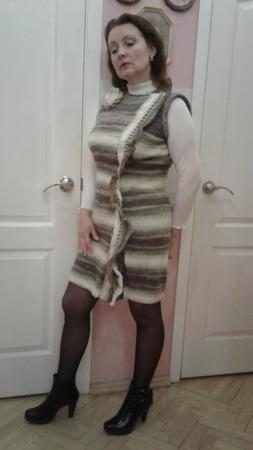 """Платье зимнее мохеровое """"Градиент"""" ручной работы на заказ"""