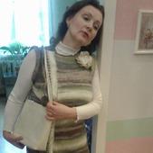 Платье зимнее, связанное из мохера спицами