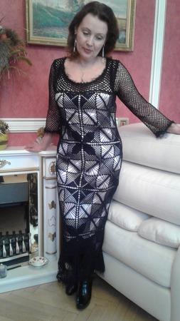 """Платье женское """"Королева вечера"""", связанное крючком ручной работы на заказ"""