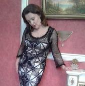 """Платье женское """"Королева вечера"""", связанное крючком"""