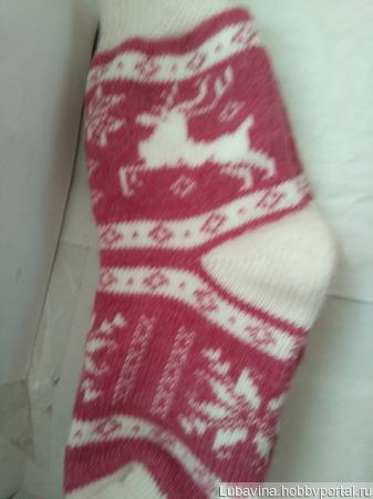 Носки женские шерстяные ручной работы на заказ