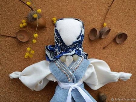 Интерьерная народная кукла кукла-мотанка ручной работы на заказ