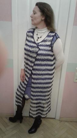 Накидка на плечи женская вязаная ручной работы на заказ