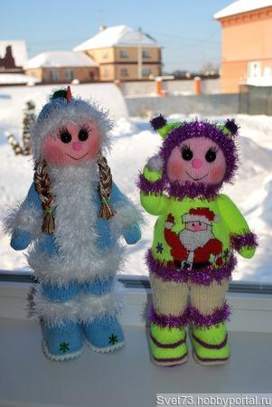 Новогодние куколки - Декабрина и Январина ручной работы на заказ