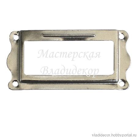 Рамка этикеток каталога М-9 бронза черный серебро ручной работы на заказ