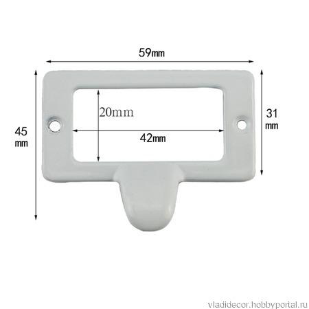 Рамка этикеток с ручкой М-103 черная белая ручной работы на заказ