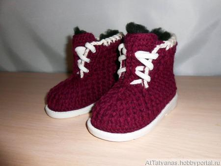 Ботинки зимние Модель «Буряшки детские» ручной работы на заказ
