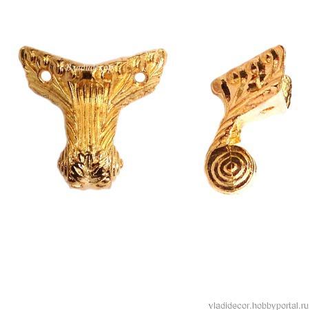 Ножки уголки коробки М-152 золото фурнитура ручной работы на заказ