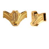 Ножки фурнитура уголки М-187 золото шкатулки