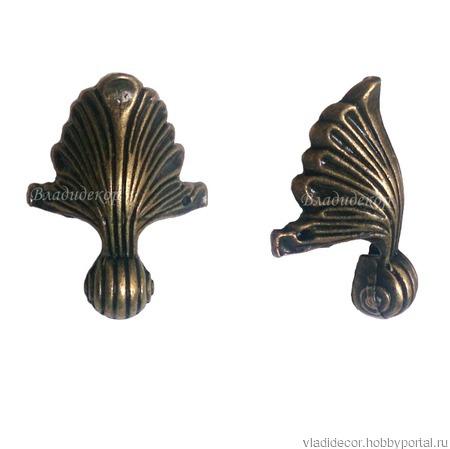Ножки уголки шкатулки М-200 бронза золото фурнитура коробки ручной работы на заказ