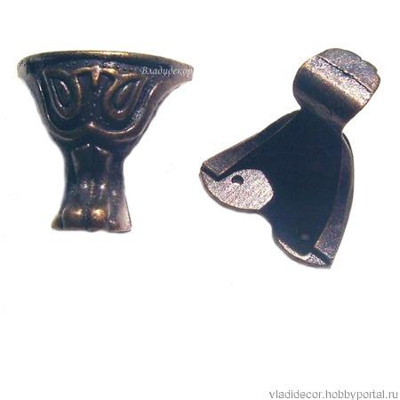 Ножки уголки шкатулки М-96 бронза серебро ручной работы на заказ