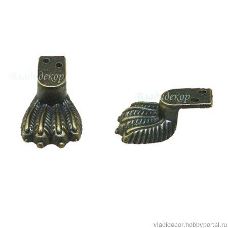 Ножки фурнитура шкатулки М-269 уголки купюрницы ручной работы на заказ