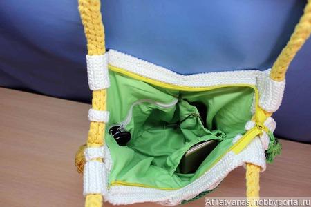 Сумка вязаная крючком «Радуга» ручной работы на заказ