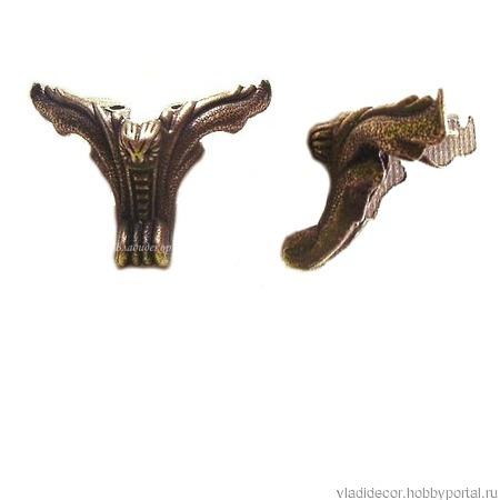 Ножки фурнитура шкатулки М-32 большие уголки ручной работы на заказ