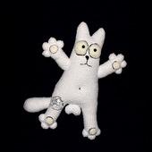 Кот Саймона.Вязаная плюшевая игрушка