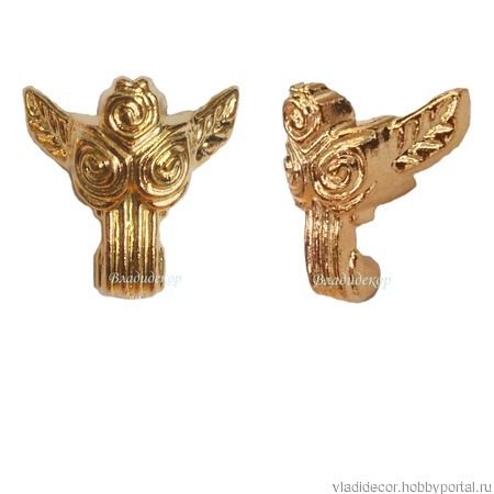 Ножки уголки шкатулки М-165 бронза золото фурнитура ручной работы на заказ