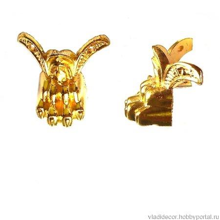 Ножки уголки шкатулки М-128 бронза золото фурнитура ручной работы на заказ