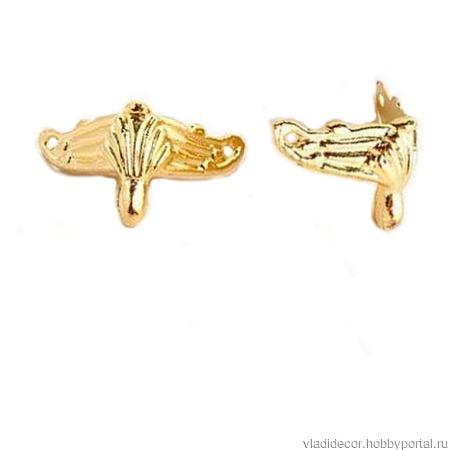 Ножки фурнитура уголки М-92 медь золото шкатулки ручной работы на заказ