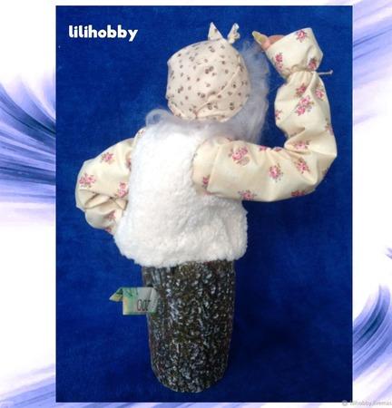 Кукла копилка Баба Яга в ступе ручной работы на заказ