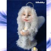 Ангел Хранитель со свечей кукла