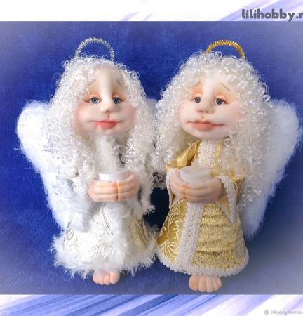 Ангел Хранитель со свечей кукла ручной работы на заказ