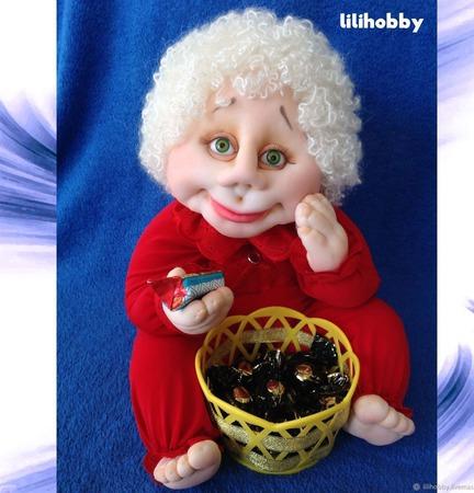 """Кукла конфетница """"Угощайся!"""" ручной работы на заказ"""