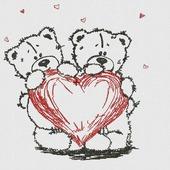 """Дизайн для вышивания """"Мишки с сердечком"""""""