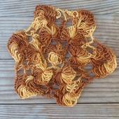 Салфетка вязаная коричнево-жёлтая Я.4.2.1.5.1.2