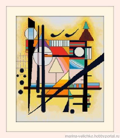 Схема для вышивки крестом «В.Кандинский. Абстракция» ручной работы на заказ