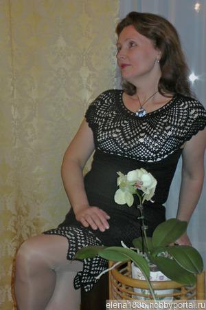 """Платье женское праздничное, вязаное крючком """"И в пир, и в мир"""" ручной работы на заказ"""