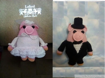 Жених и невеста свинки 4.2.4.3.1 ручной работы на заказ