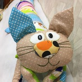 Кот-обнимашка, подушка-игрушка