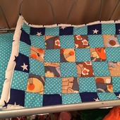 Одеяло лоскутное на синтепоне для куклы (28/38 см)