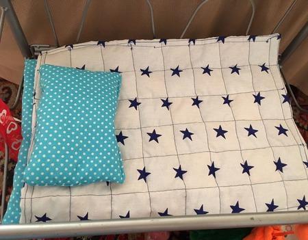 Одеяло лоскутное на синтепоне для куклы (28/38 см) ручной работы на заказ