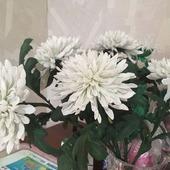Хризантемы из фоамирана