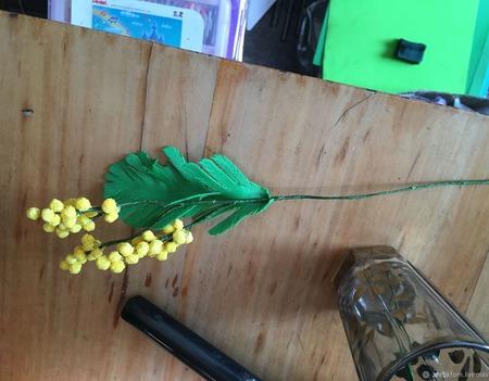Мимоза из фоамирана ручной работы на заказ