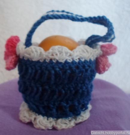 Корзинка для яиц синяя Я.4.2.2.3.6 ручной работы на заказ