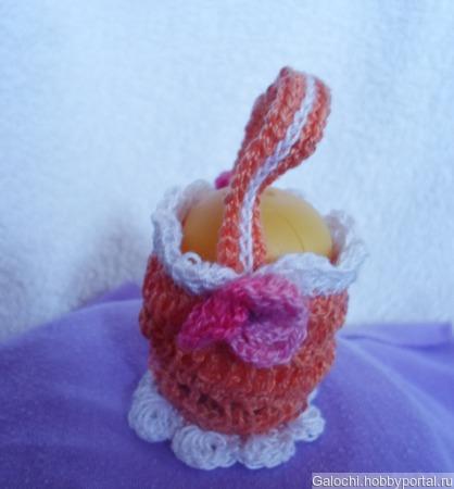Корзинка для яиц оранжевая Я.4.2.2.3.2 ручной работы на заказ