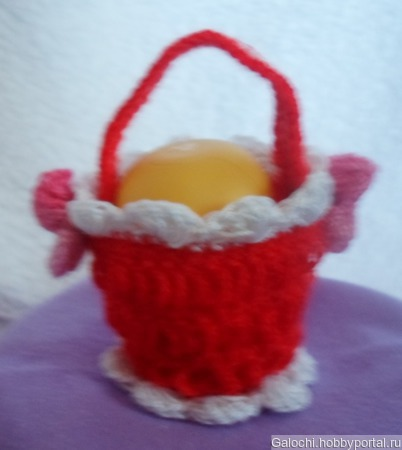 Корзинка для яиц красная Я.4.2.2.3.1 ручной работы на заказ